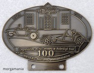 badge Morgan :100 ans Pickersleigh Road brass