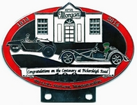 badge Morgan :100 ans Pickersleigh Road red