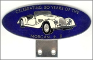 badge Morgan :30 years of Morgan +8