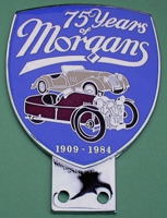 badge Morgan : 75ans blue