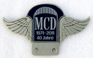 badge Morgan :MCD 40jahre