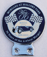 badge Morgan :MOG 06 Mallory park blue