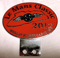 badge Morgan :MSCC Le Mans Classic 2012 red
