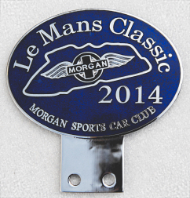 badge Morgan :MSCC Le Mans Classic 2014 navy blues