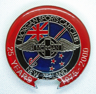 badge Morgan :MSCCNZ 25th anniversary